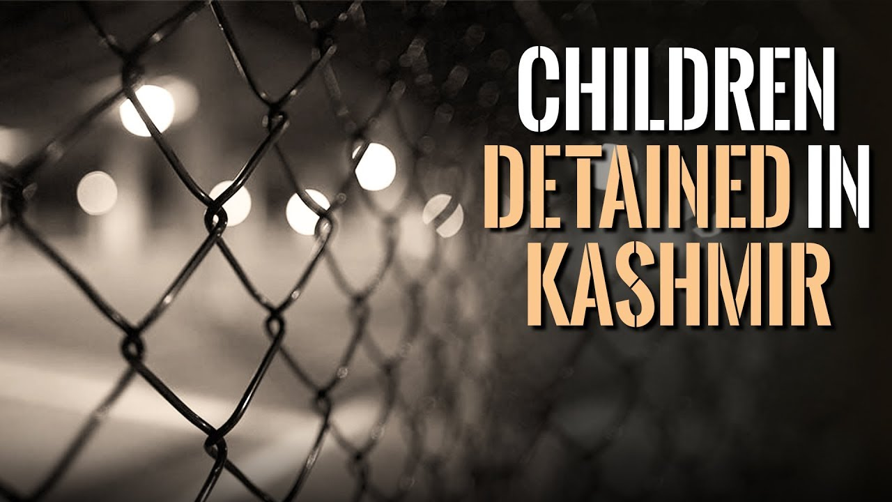Children detained in Kashmir by the army