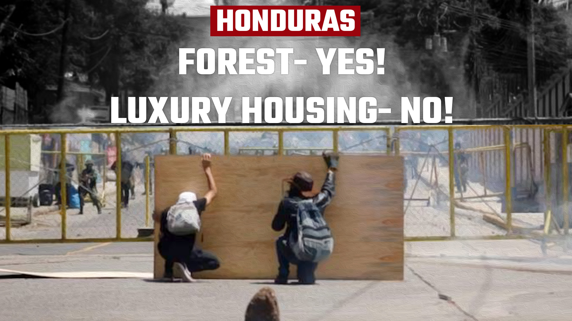 HONDURAS_Anti Luxury housing protest