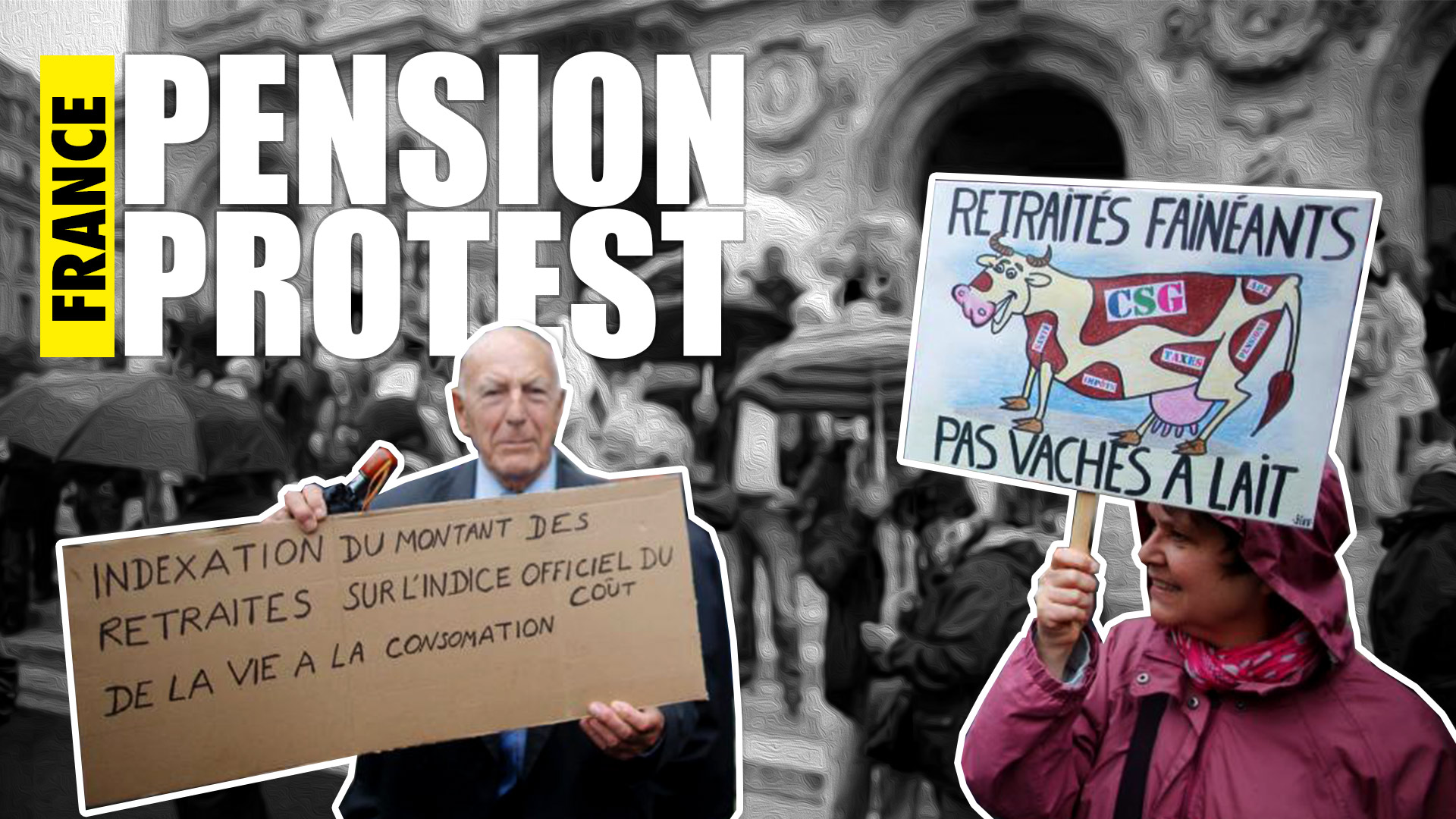 Pension protests in France