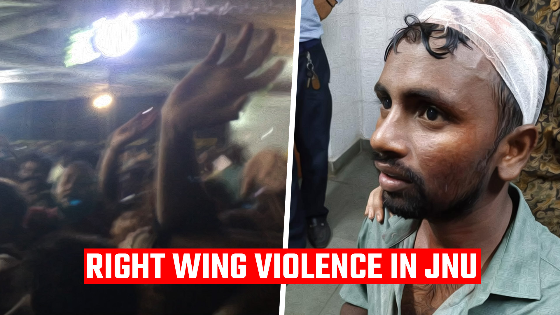 Right wing ABVP violence in JNU election debate_New Delhi (1)