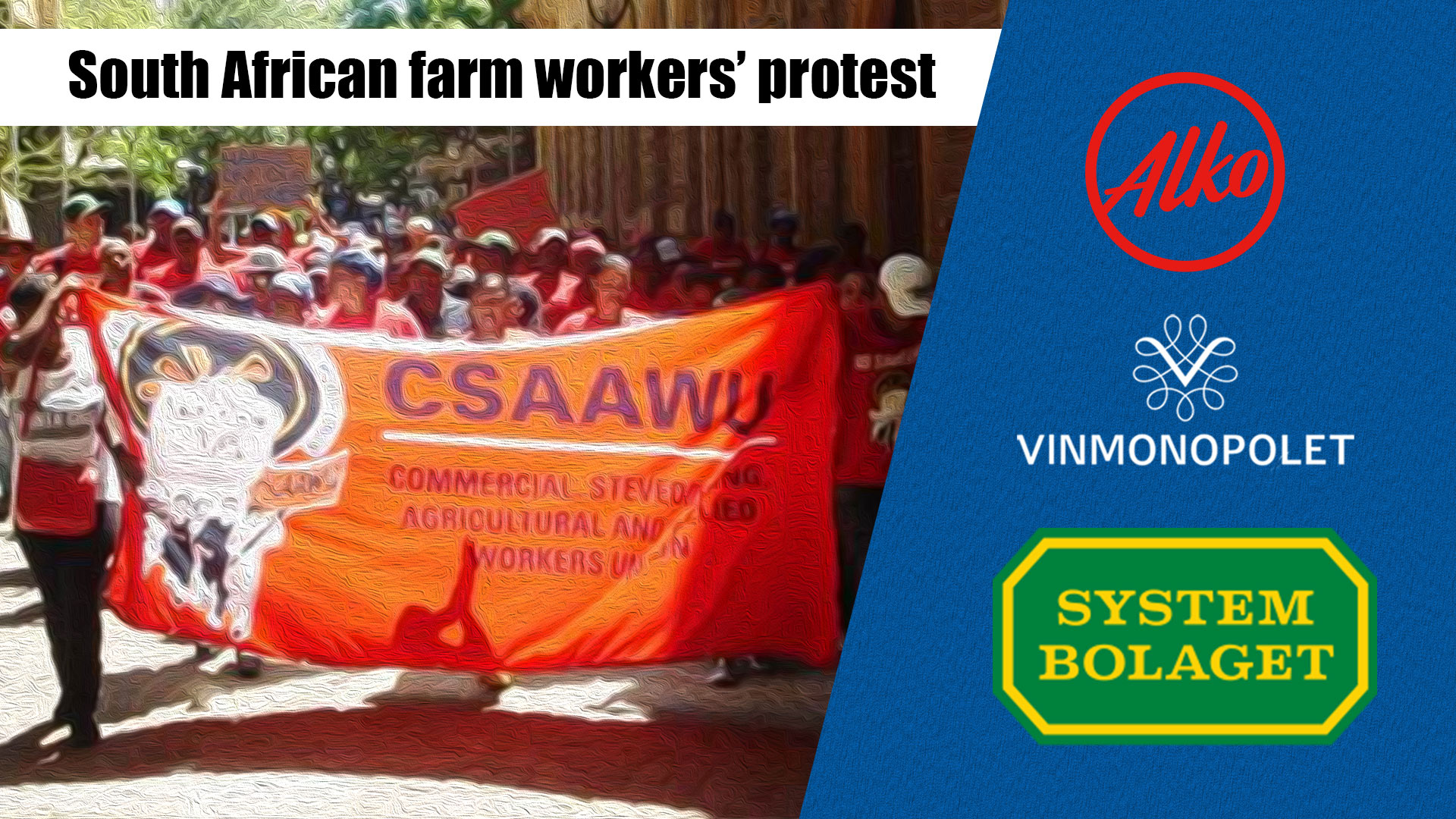 South African farm workers protest