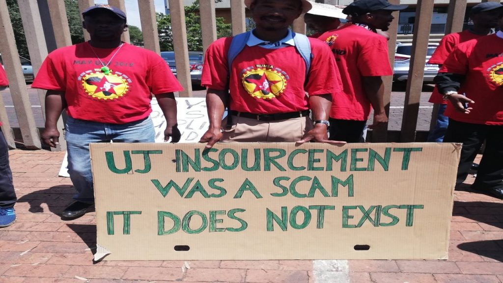 University of Johannesburg workers continue strike over equal pay for equal work