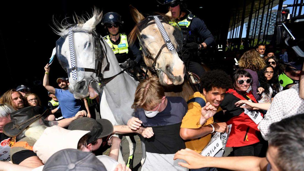 Australia mining protests