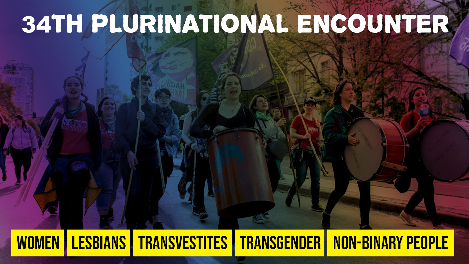 34th Plurinational Encounter of Women, Lesbians, Transvestites, Transgender and Non-binary People