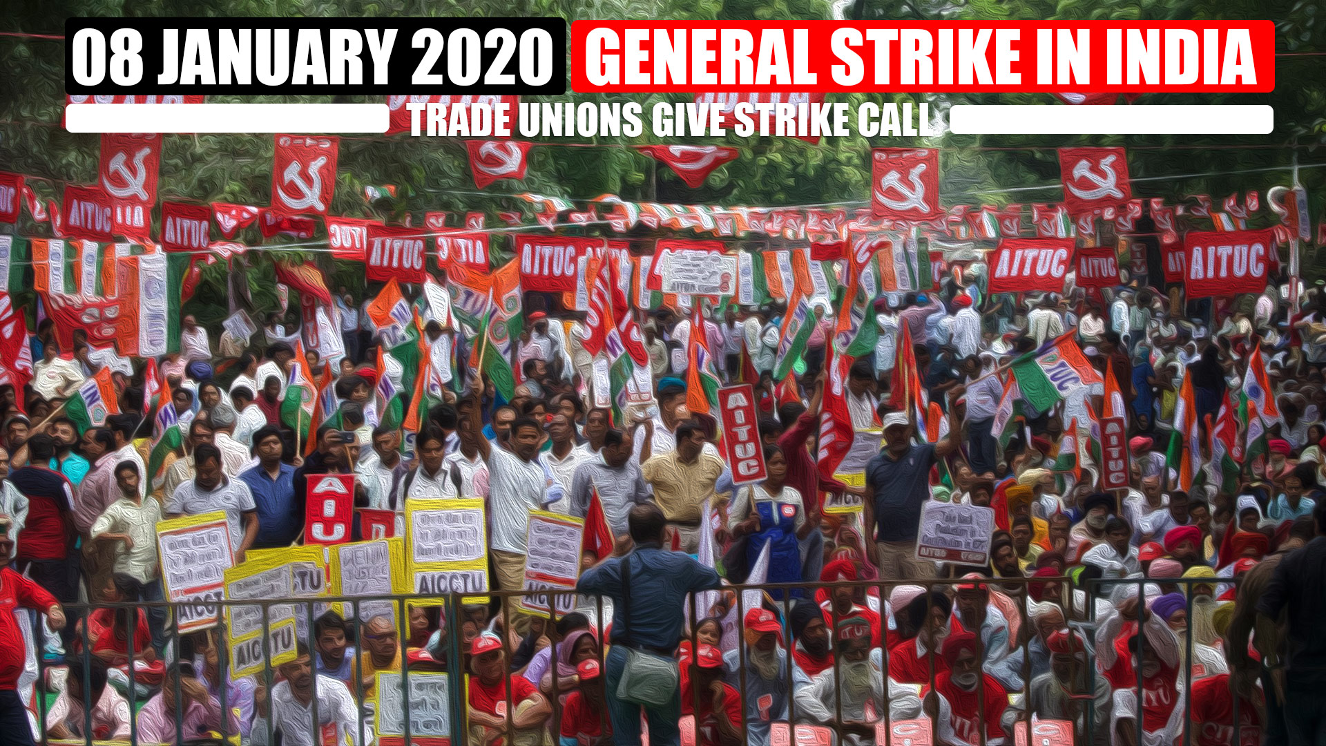 Trade unions in India give strike call on 8jan _Trade unions convention 30sept