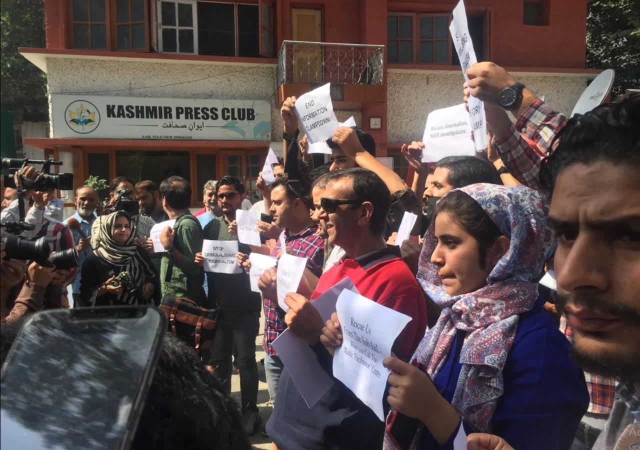 Kashmir journalists' protests