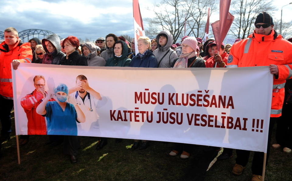 Latvia health workers