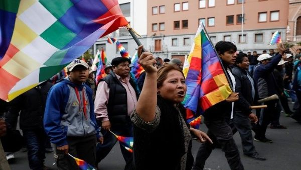 Bolivia protest against coup