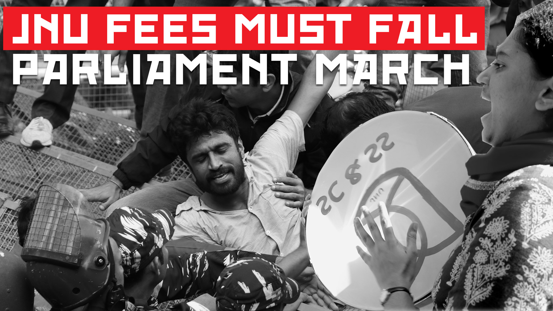 JNU FEES MUST FALL_ PARLIAMENT MARCH