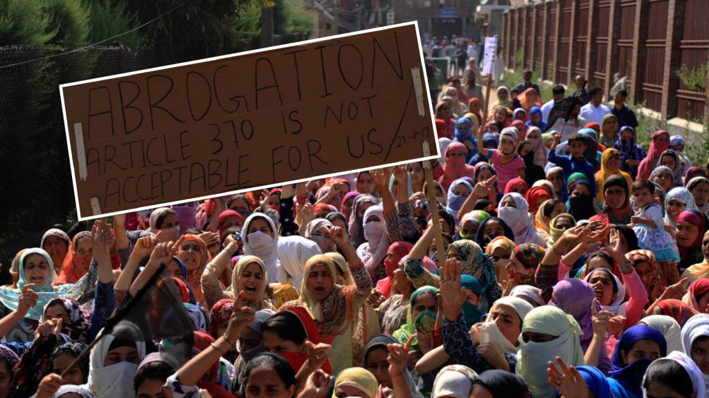 Women and children continues to be the worst sufferers of state repression in Kashmir. Despite the crackdown, thousands of women marched to the streets of Kashmir to protest against the abrogation of Article 370.