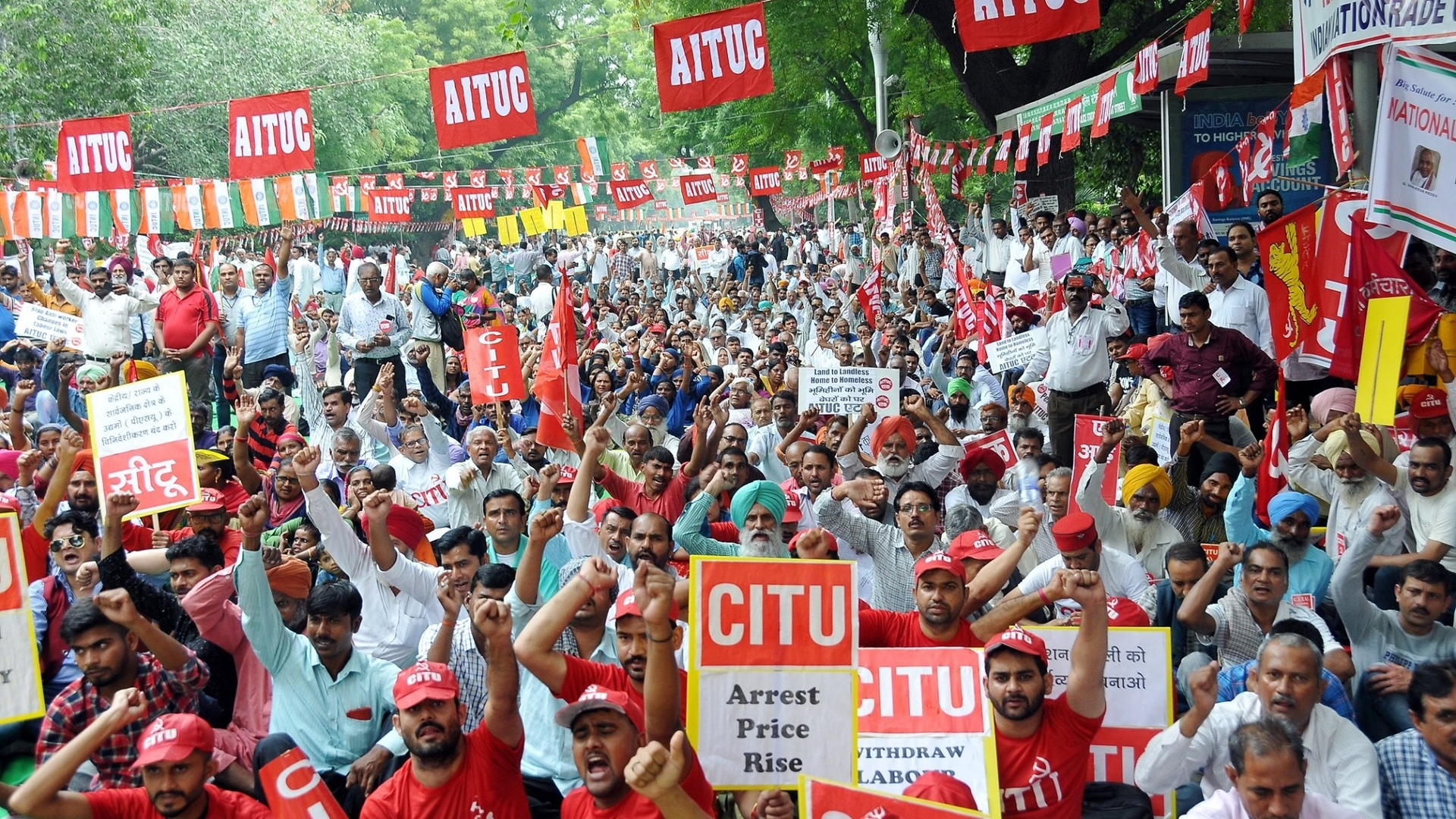 Image result for mass strikes india