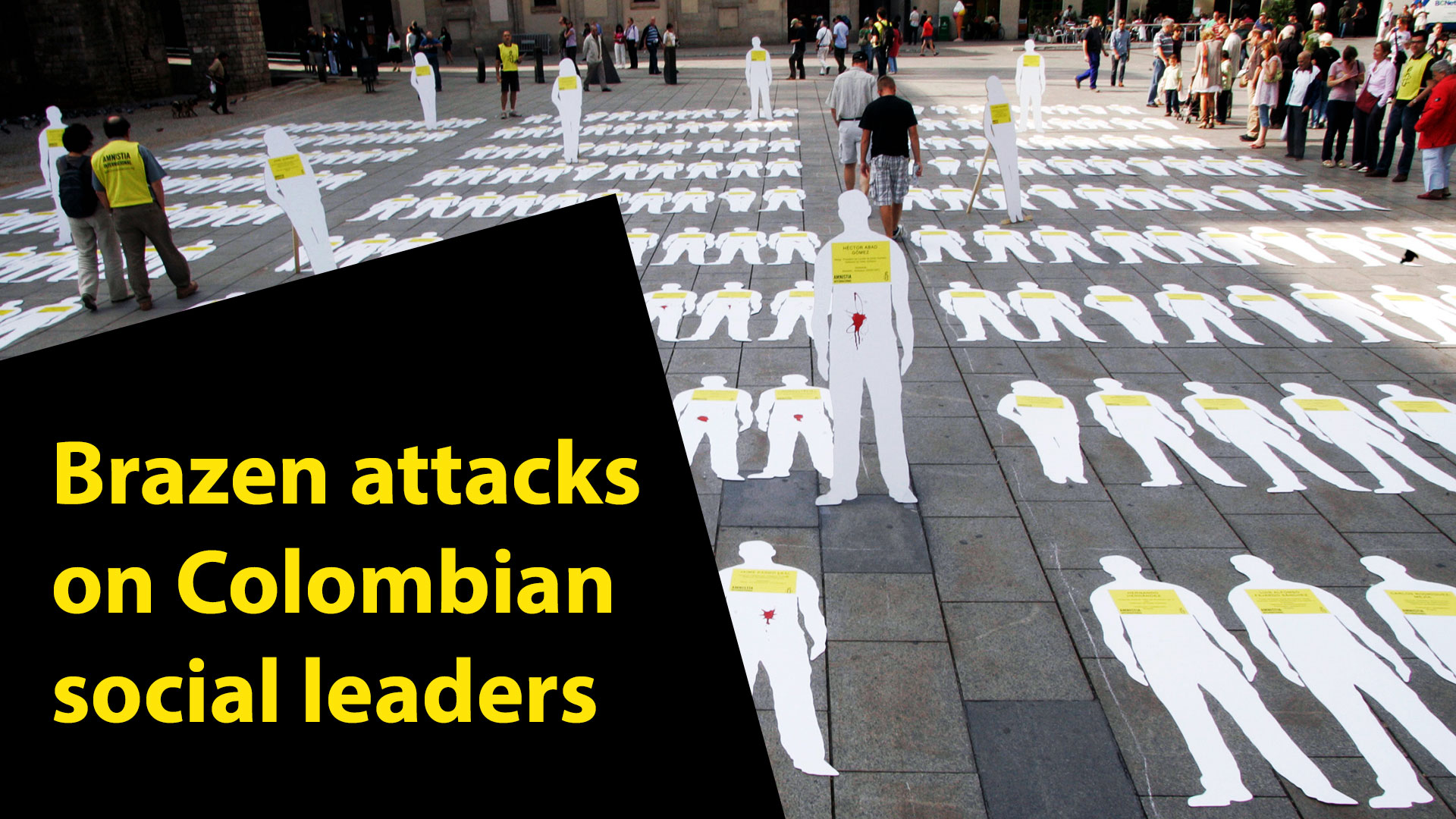 Assassination of colombian social leaders