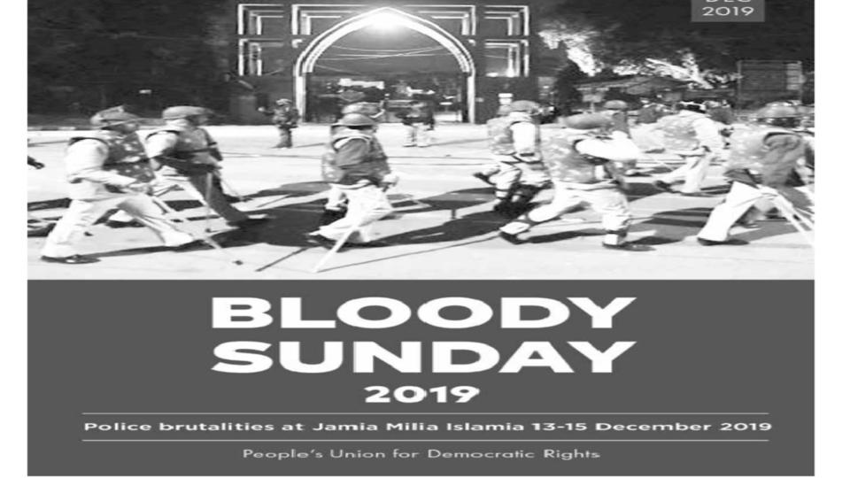 Jamia police violence report