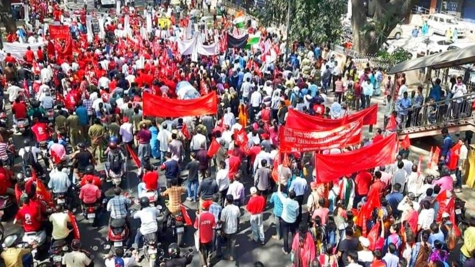 India workers strike