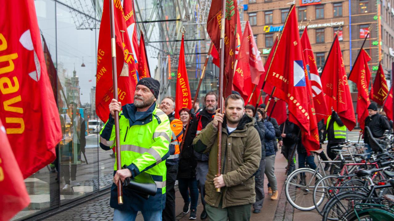 Denmark minimum wage strike