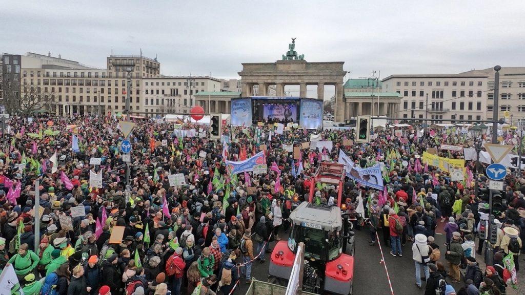 German farmers protest