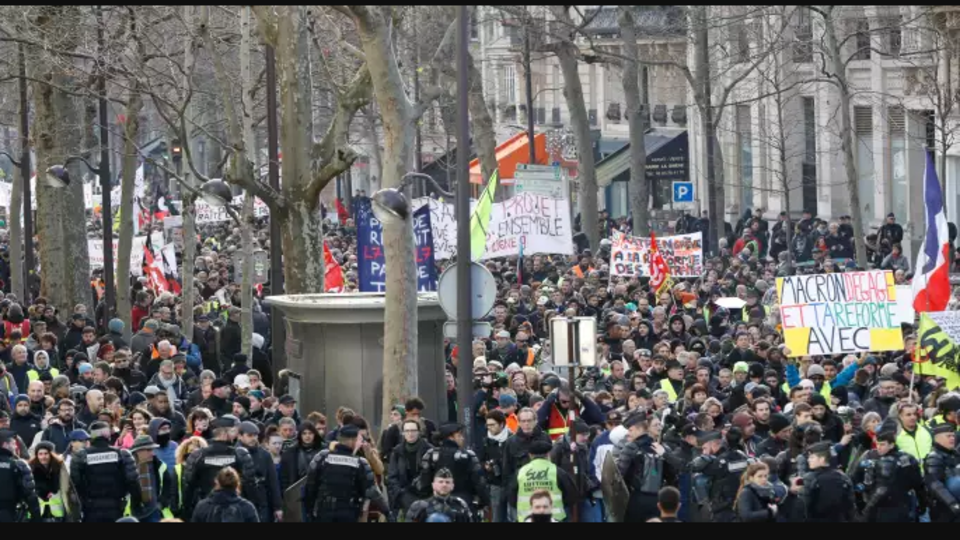 French pension protests