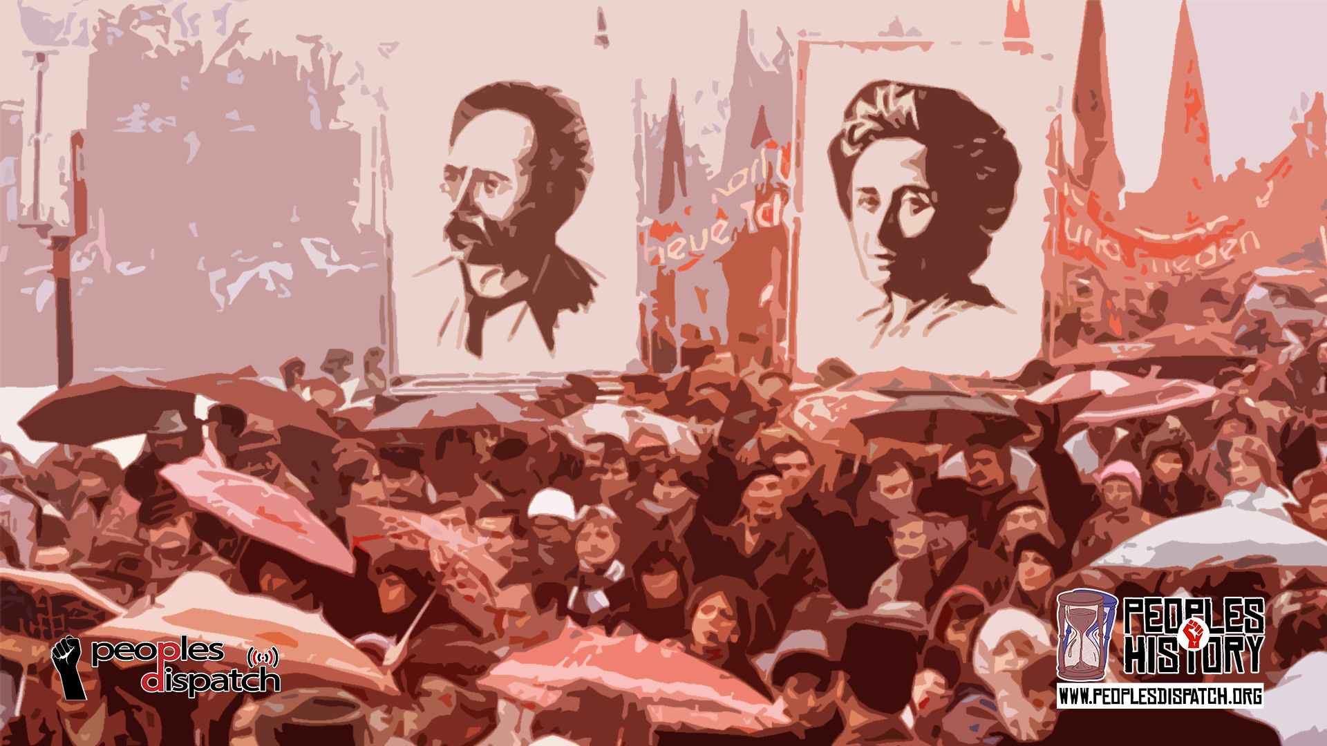 communist leaders; Rosa Luxemburg and Karl Liebknecht in Germany were murdered