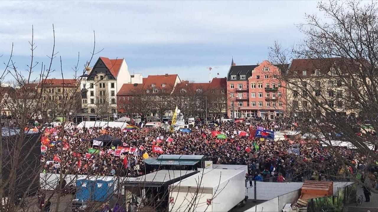 German anti-fascist march