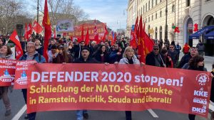 Protest against Munich security conference