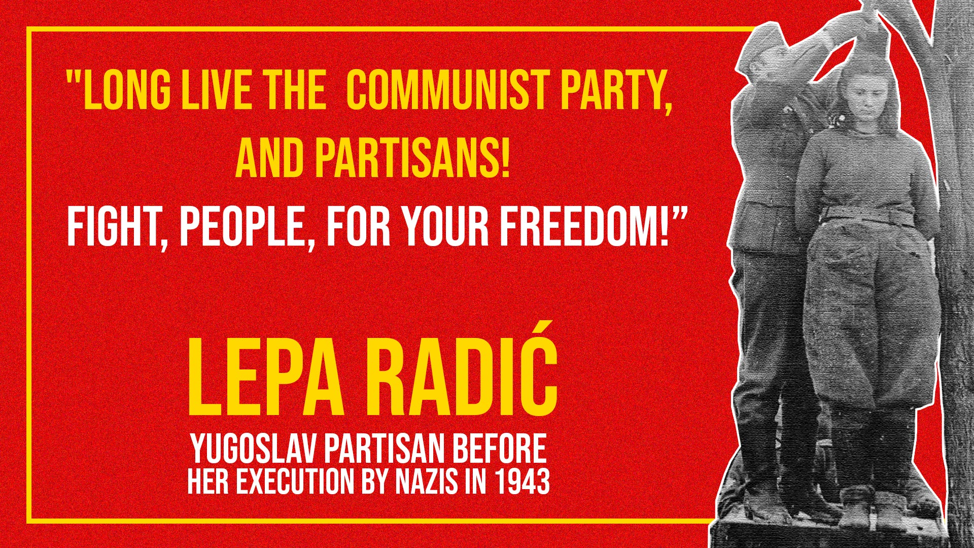 Lepa Radić_ Communist Yugoslav Partisan_World War II