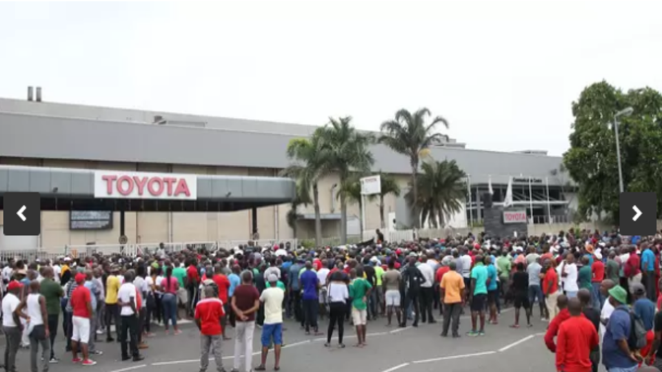 Toyota strike South Africa