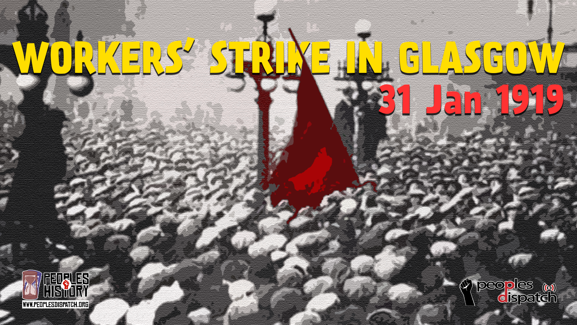Workers strike in Glasgow 1919