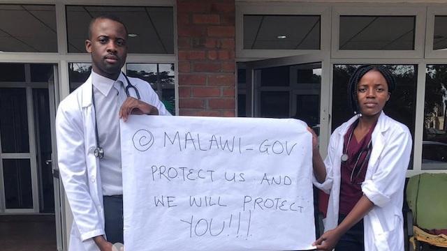 Malawi health workers COVID