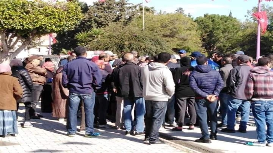 Tunisia Workers protest COVID