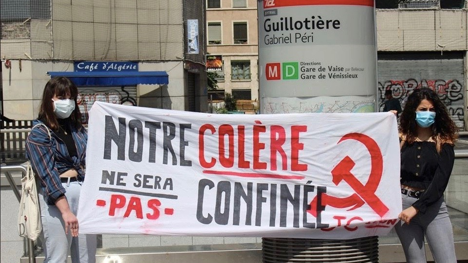 France communist youth protest