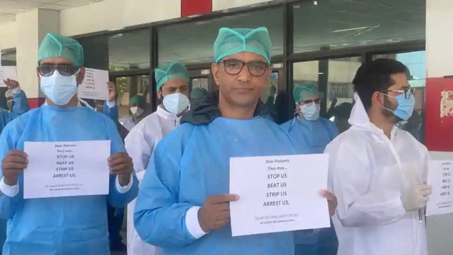 Doctors protest Kashmir