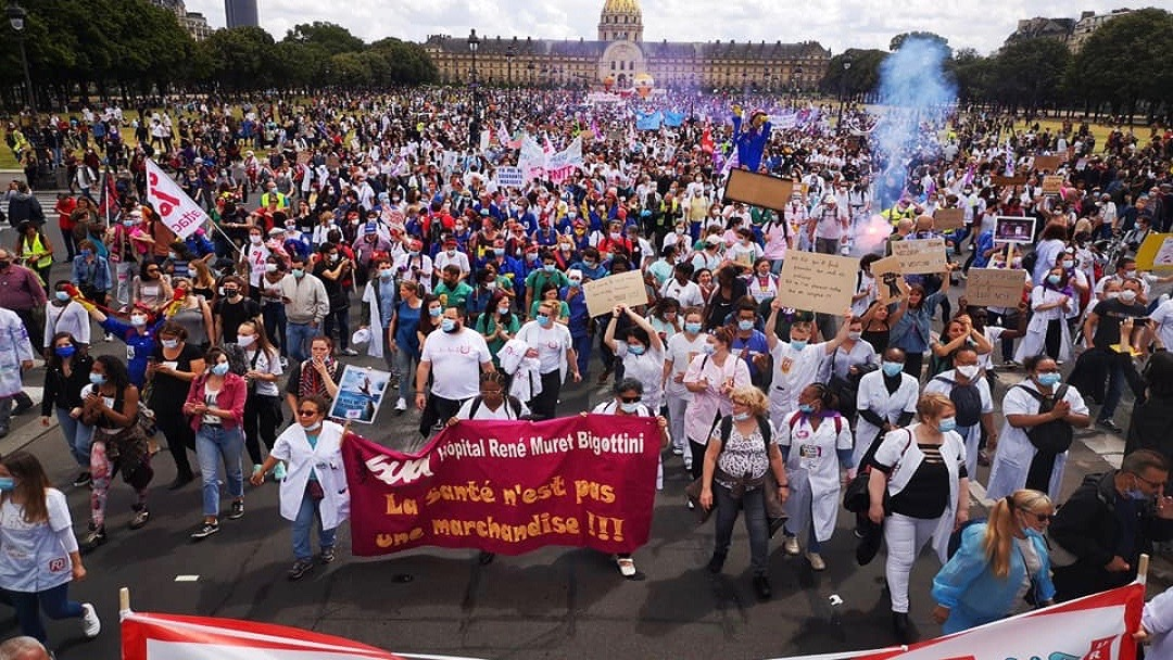 France health workers Protests