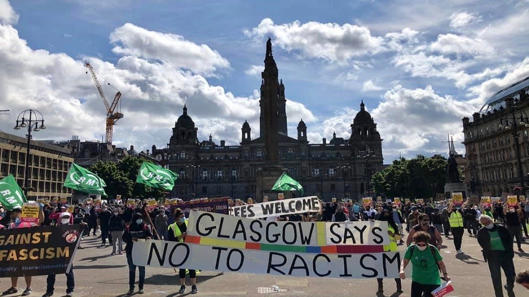 Anti-racism protest-Glasgow