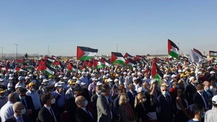 Jericho protests against Israeli annexation plan