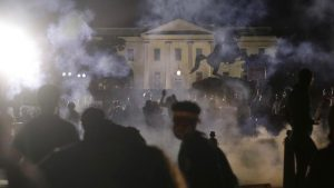 US lawsuit against Trump White House protests