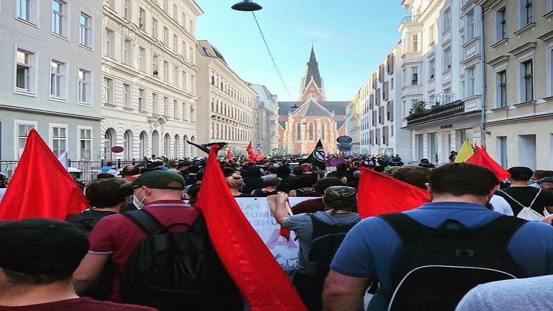 Anti-fascist protest-Austria