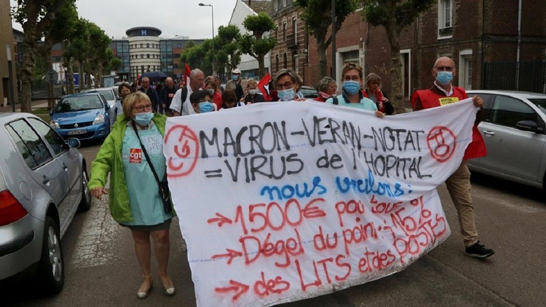 French Health workers protest