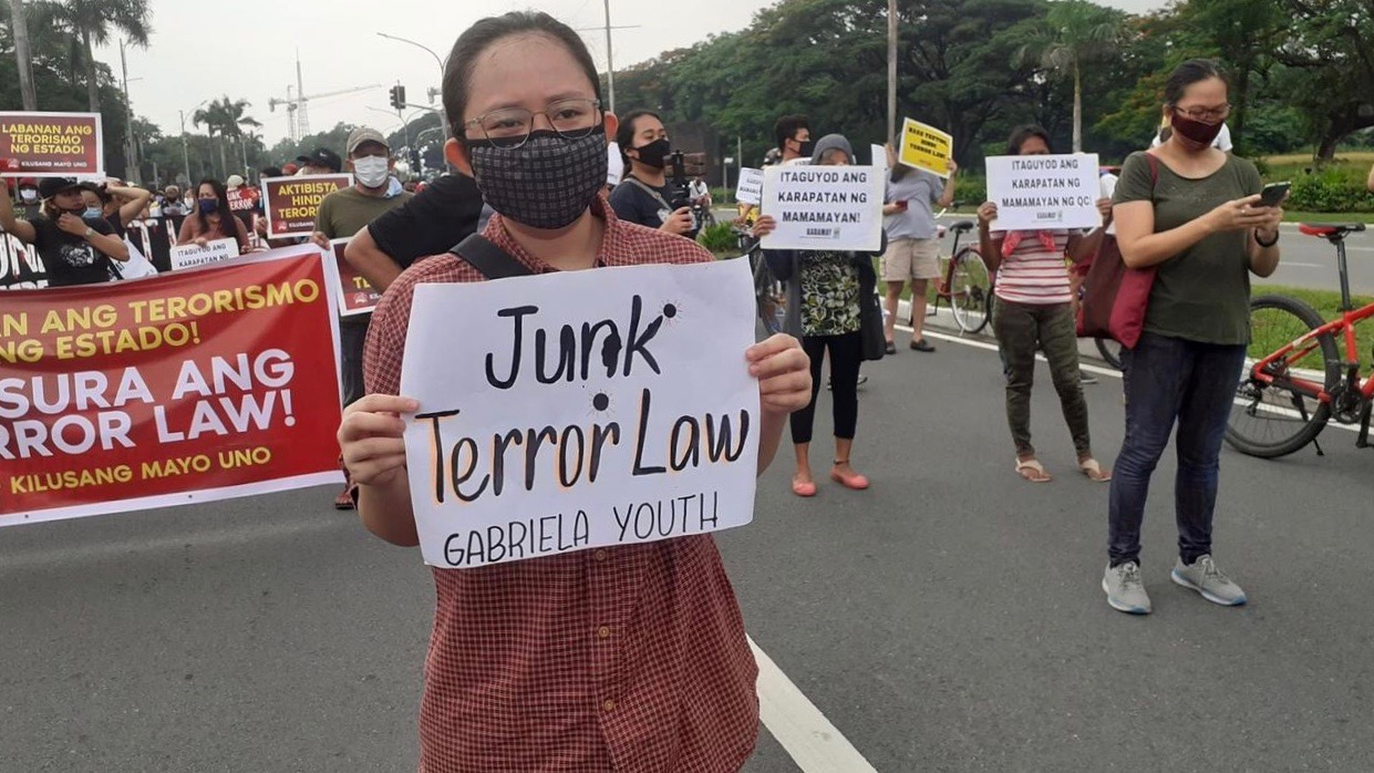 Philippines anti-terror law protest