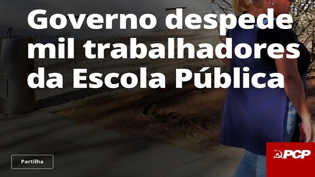 Portuguese Communists against school workers redundancies