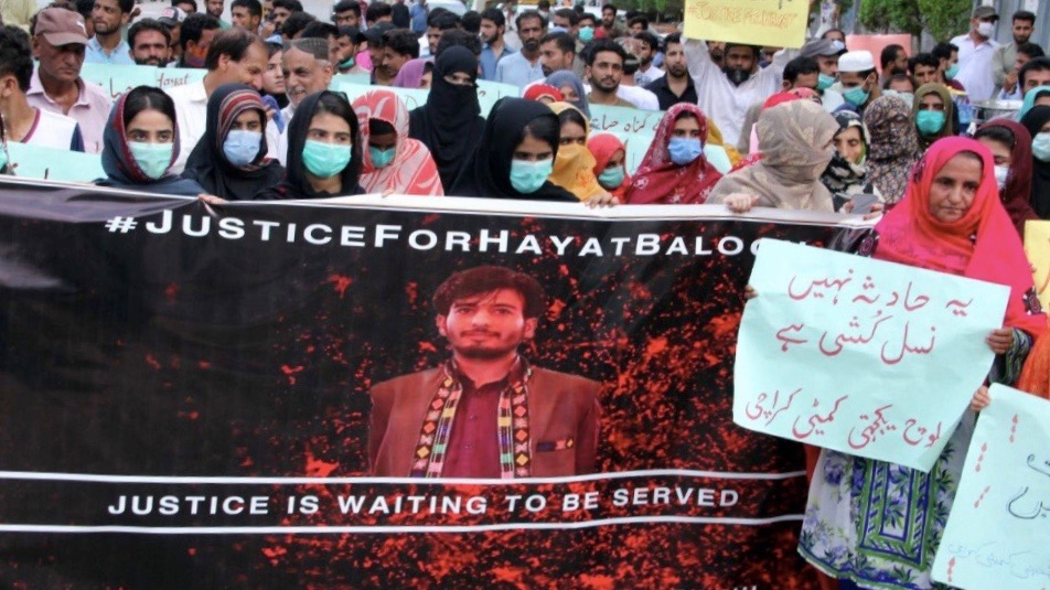 Protest: Baloch students death