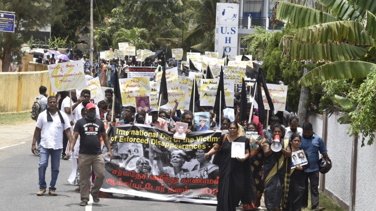 Families of disappeared persons protest in Sri Lanka