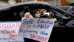 Protests against reopening schools -US