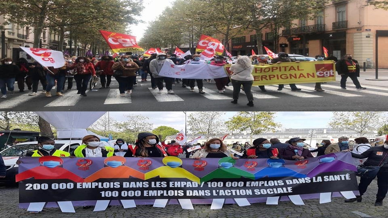 Healthworkers Protests-France