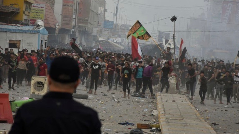 Anti-govt protests Iraq