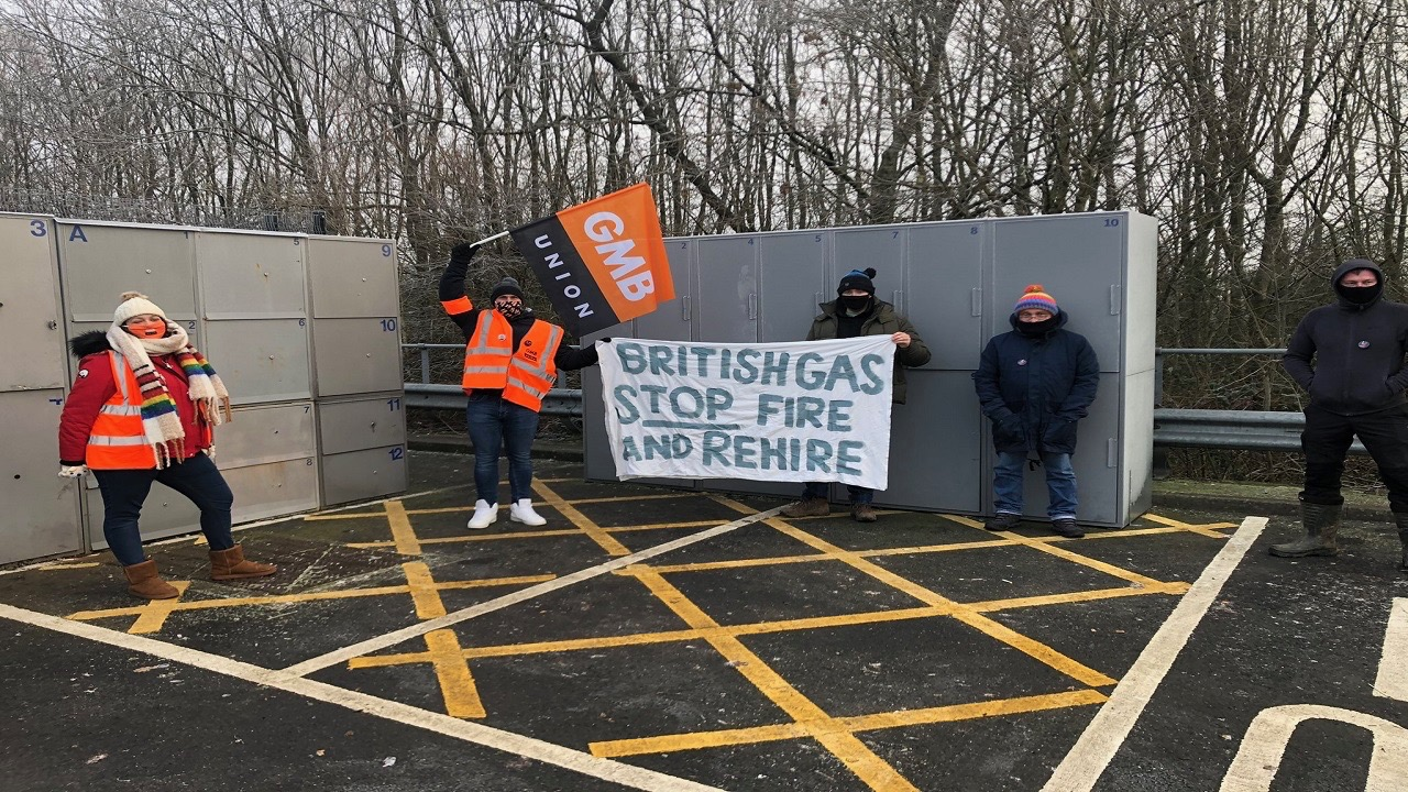 Gas workers strike-UK
