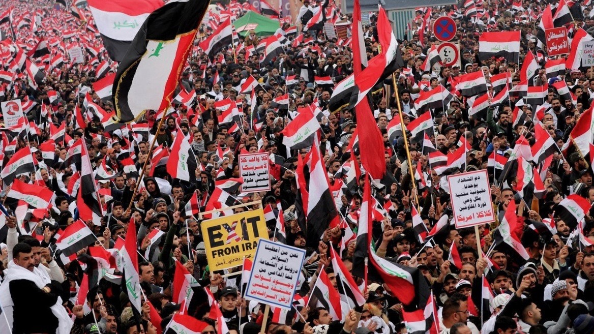 Iraq protests demanding withdrawal of US troops