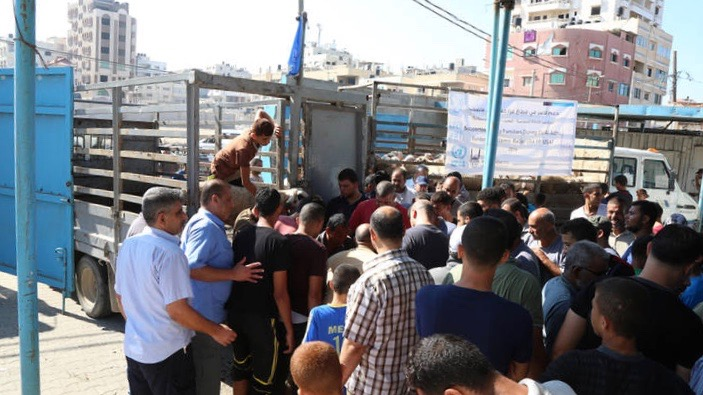 Palestinian refugees food aid