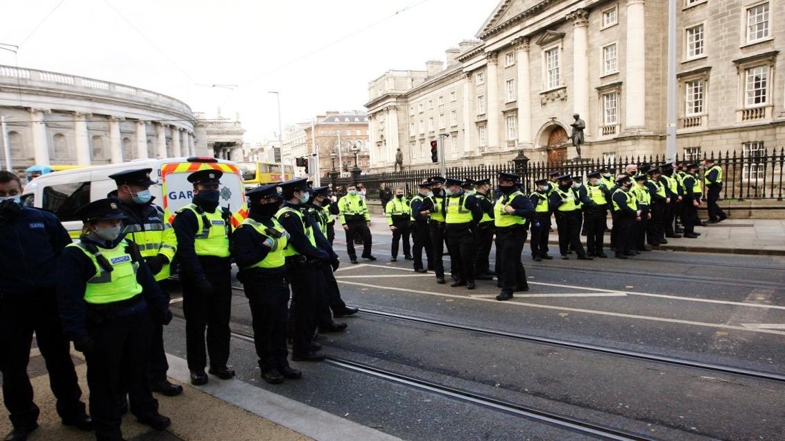 Anti-lockdown Protest-Ireland
