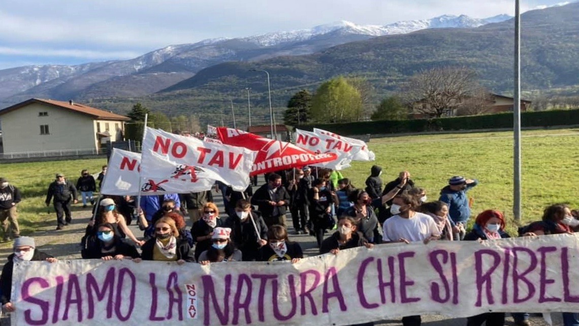 NO TAV protest-Italy