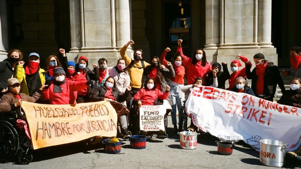 US migrants hunger strike